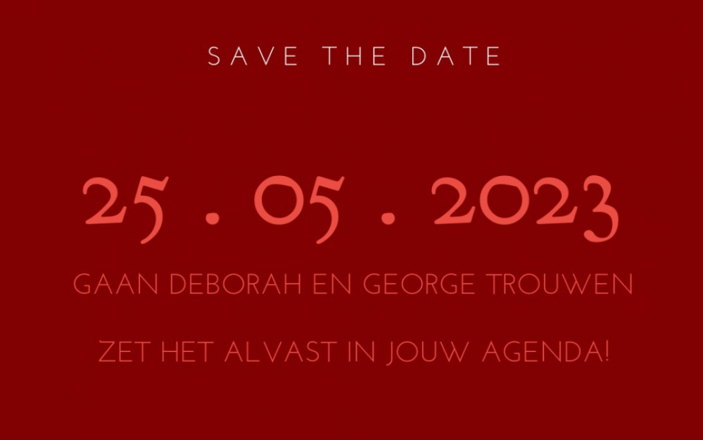 save the date achter