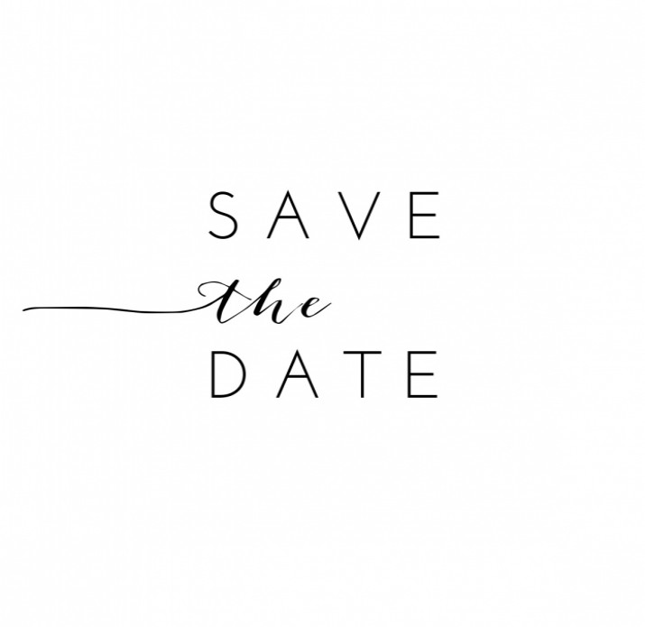 Save the date botanisch zwart wit mr and mrs voor