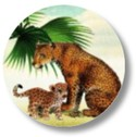 Sluitsticker jungle luipaard