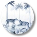 Sluitsticker jungle panter blauw